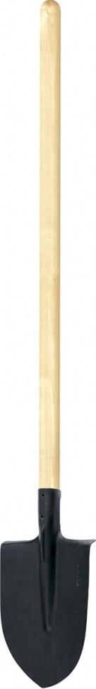 Лопата штыковая Сибртех, с черенком лопата штыковая с деревянным черенком