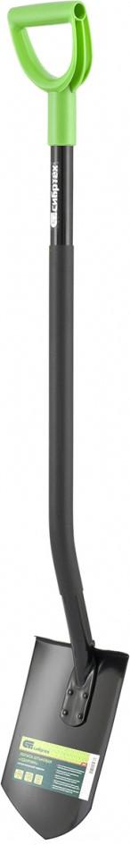 Холоднокатаная борсодержащая сталь, из которой выполнена рабочая часть, обеспечивает высокую степень упругости.  Благодаря закалке инструмент надежен при проведении тяжелых видов работ.  Двойное соединение штыка и черенка (сварка+стальная клепка) увеличивает срок эксплуатации.  Заостренная рабочая кромка способствует легкому проникновению в грунт.  Эргономичная форма стального черенка, ПВХ-накладка и V-образная рукоятка создают условия для комфортной работы.  Покрытие порошковой эмалью защищает металлическую часть инструмента от коррозии и обеспечивает высокую стойкость к истиранию, ударопрочность, гибкость и сопротивляемость царапинам.