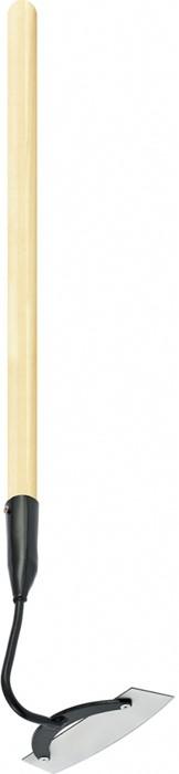 Предназначена для прополки сорняков, разрыхления междурядий, окучивания растений.  Инструмент устойчив к механическим воздействиям.  Защитное покрытие металлических частей предохраняет их от коррозии.  Черенок выполнен из древесины высшего сорта.