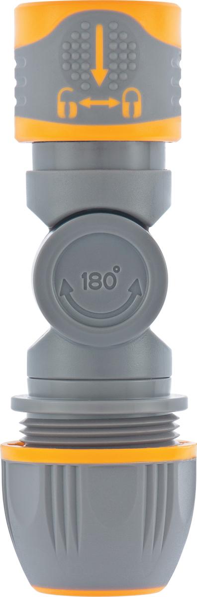 """Предназначены для быстросъемного соединения с другим шлангом 1/2""""-3/4"""".  Шарнирный механизм позволяет менять направление соединений на 180°, защищая шланг от перегибов и перекручивания."""