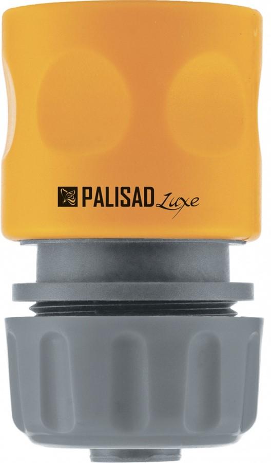 Соединитель садовый Palisad, пластмассовый, быстросъемный, для шланга 3/4, однокомпонентный адаптер соединитель palisad 65755