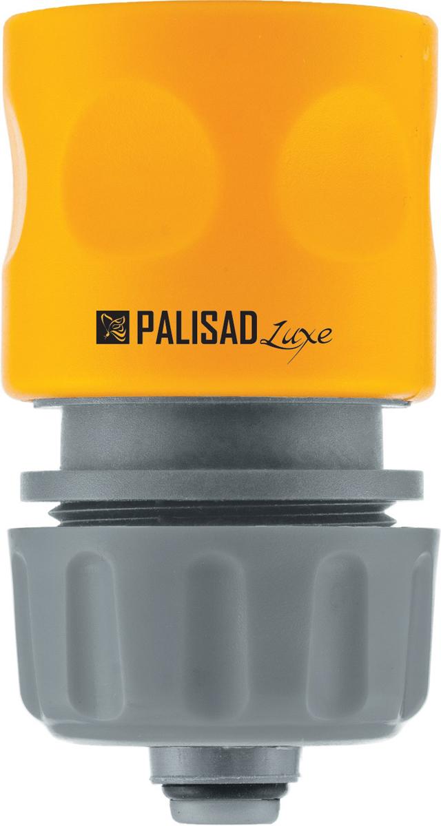 Соединитель садовый Palisad, пластмассовый, быстросъемный, для шланга 1/2, аквастоп, однокомпонентный коннектор для шланга truper латунный папа 1 2