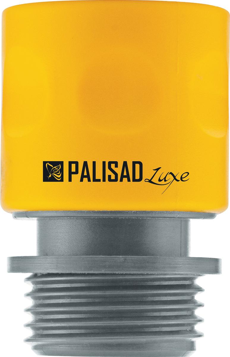 Соединитель садовый Palisad, пластмассовый, быстросъемный, внешняя резьба 3/4, однокомпонентный адаптер соединитель palisad 65755