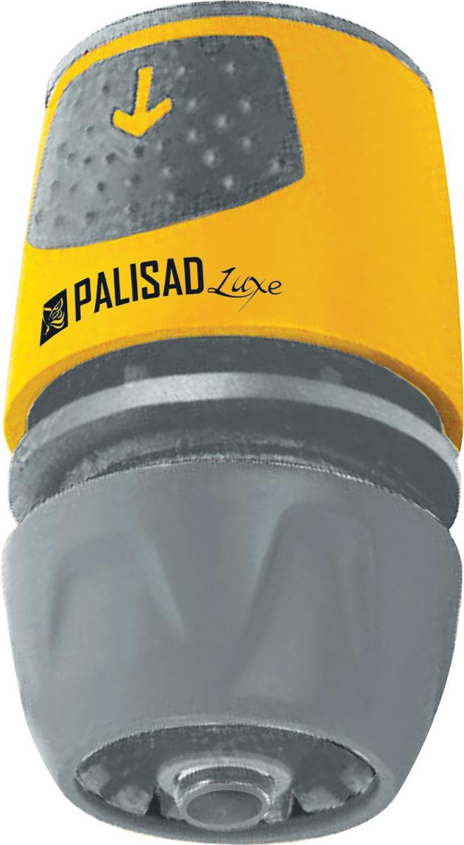 Соединитель садовый Palisad, быстросъемный для шланга 1/2-3/4, аквастоп, АВС-пластик коннектор для шланга truper латунный папа 1 2