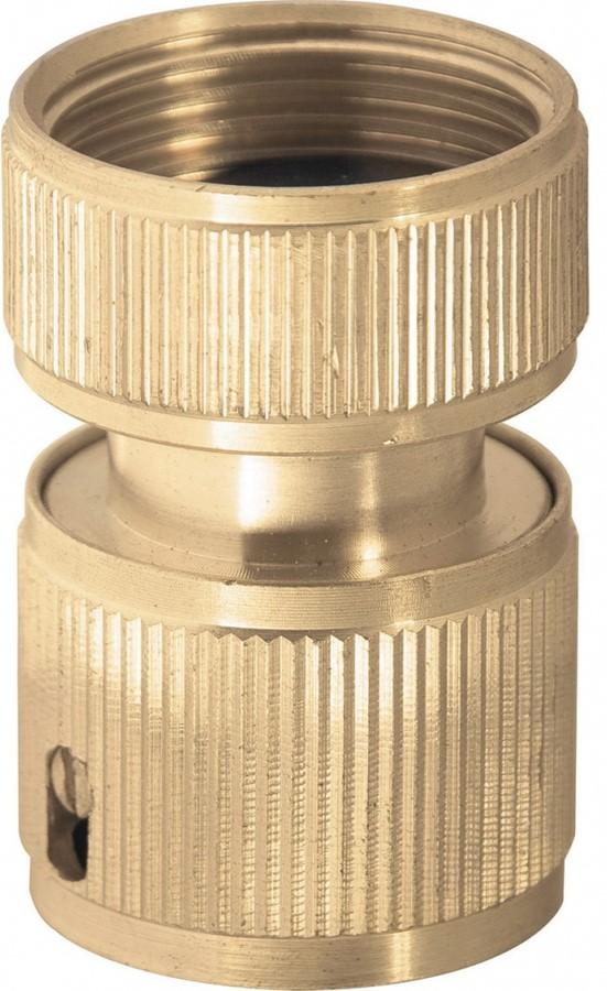 Предназначен для быстрого подключения распыляющей насадки к шлангу.  Функция «аквастоп» автоматически прекращает подачу напора при отсоединении насадки от шланга и возобновляет при подключении.
