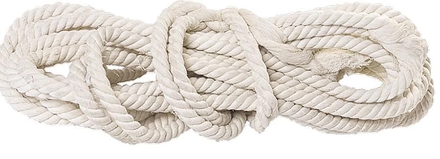 Веревка хлопчатобумажная, крученая Сибртех, диаметр 14 мм, длина 11 м, 370 кгс94003Веревка хлопчатобумажная изготовлена методом тросовой свивки.Удобна в обращении, прочна (370 кгс), применяется в качестве обвязочного материала.