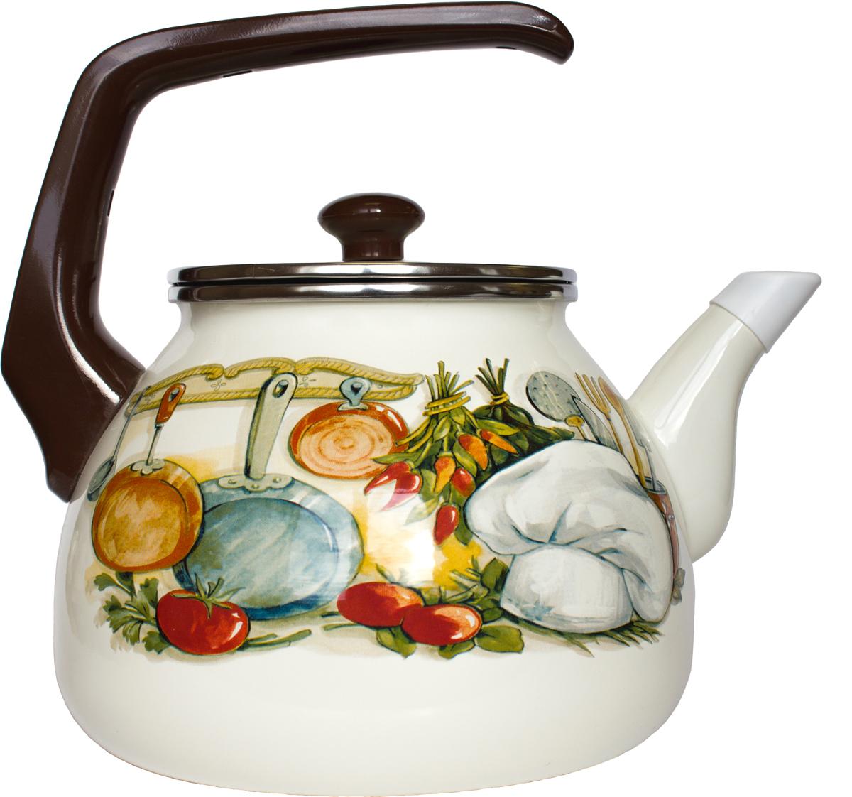 Чайник Interos выполнен из двойного покрытия эмали. Ручка удобной эргономичной формы выполнена из бакелита, не нагревается при использовании. Чайник оснащен стеклянной крышкой.Можно использовать на всех видах плит.Можно мыть в посудомоечной машине.