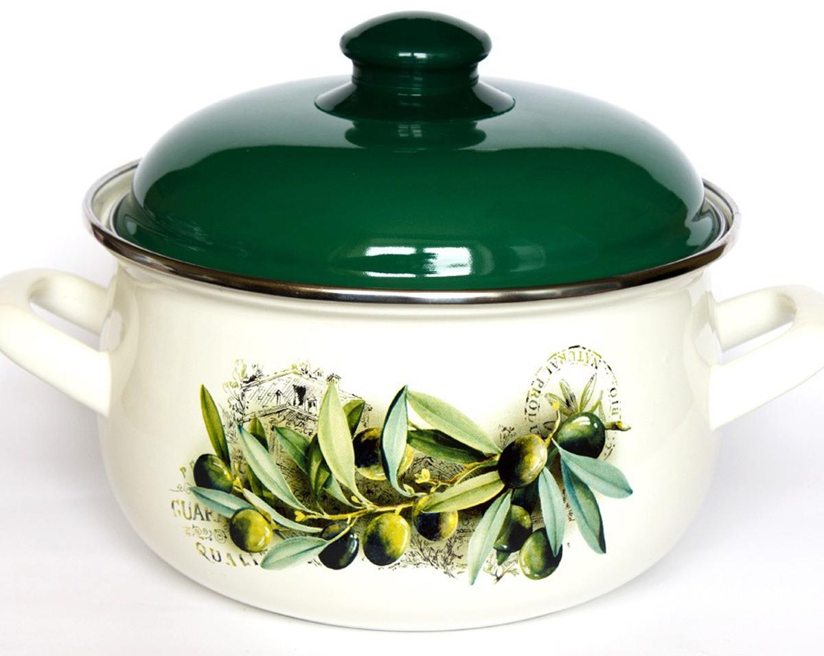 Кастрюля Interos Маслины, с крышкой, 5,7 л набор посуды interos 15231 маслины