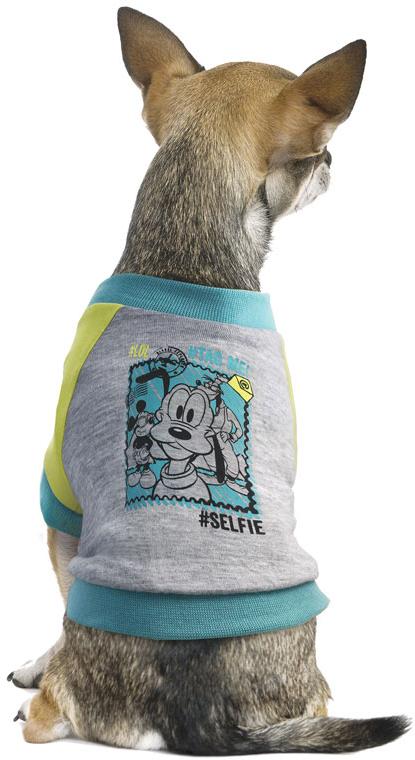 Футболка для собак TriolDisney Pluto, цвет: светло-серый. Размер L поводки triol поводок со светоотражающей строчкой серый размер l 25 x 1200мм