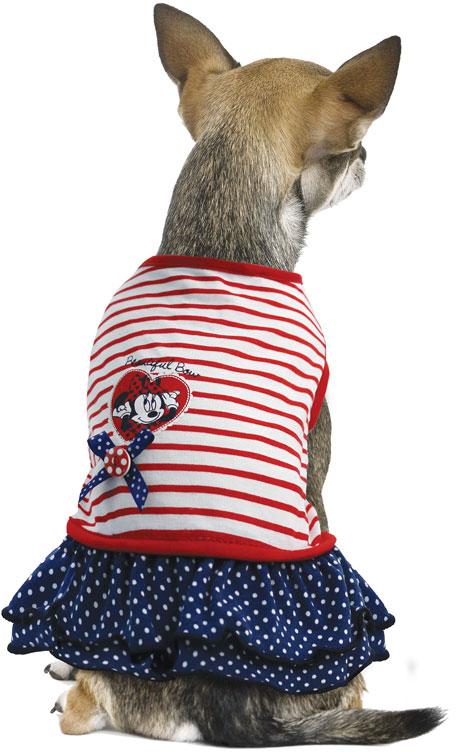 Платье для собак TriolDisney Minnie Smart, цвет: белый, красный, черный. Размер S свитер triol disney minnie m