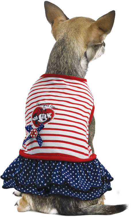 Платье для собак TriolDisney Minnie Smart, цвет: белый, красный, черный. Размер M свитер triol disney minnie m