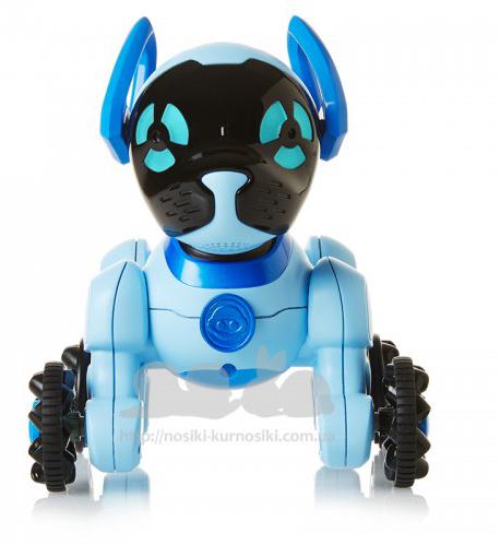 WowWee Интерактивная игрушка Собачка Чиппи цвет голубой цена