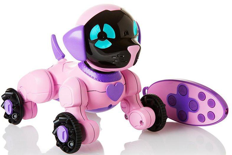 WowWee Интерактивная игрушка Собачка Чиппи цвет розовый цена