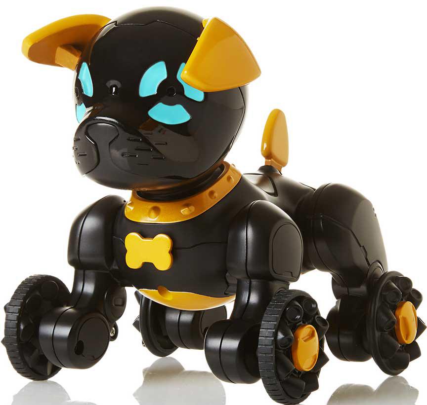 Интерактивная игрушка WowWee Собачка Чиппи цвет черный цена