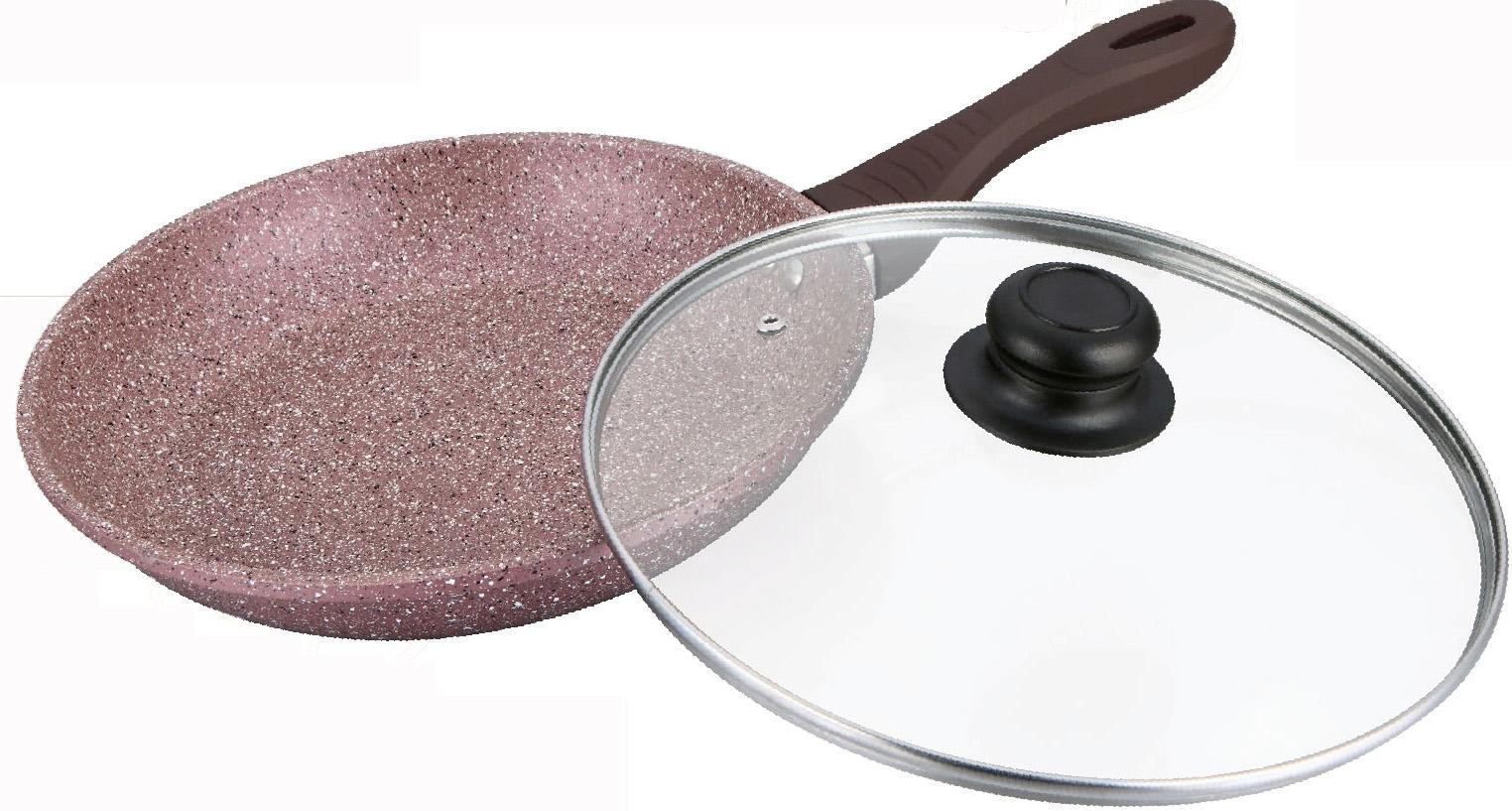 """Сковорода """"Bayerhoff"""" имеет антипригарное мраморное покрытие, жаростойкое внешнее покрытие, удобную эргономичную ручку."""