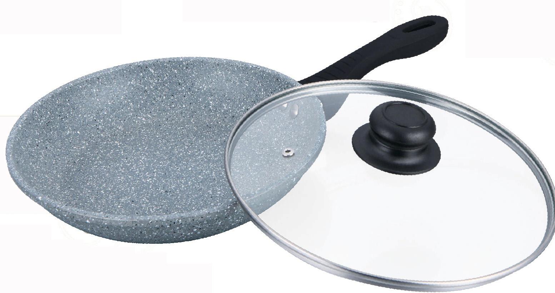 Сковорода Bayerhoff, с антипригарным покрытием non-stick под мрамор, цвет: серый. Диаметр 22 см. BH-561BH-561Сковорода Bayerhoff имеет антипригарное мраморное покрытие, жаростойкое внешнее покрытие, удобную эргономичную ручку.