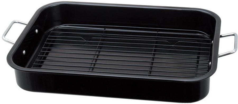 Материал: углеродистая сталь. В комплекте: противень-1 шт, решетка-1 шт. Размер: 41,7 x 30,5 x 6,3 см. Съемная металлическая решетка Антипригарное покрытие. Можно мыть в посудомоечной машине.