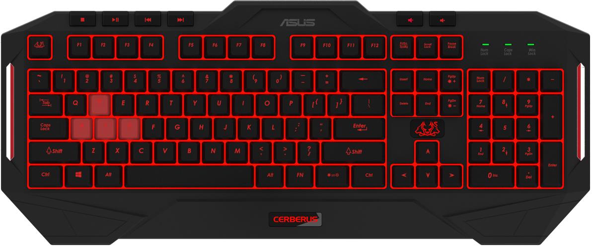 ASUS Cerberus MKII 90YH0131-B2RA00, Black клавиатура игровая клавиатура topon top 100396 для asus l4 l4r l4000 series black