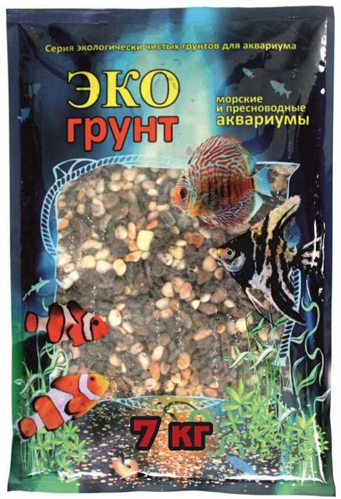 Грунт для аквариума ЭКОгрунт Феодосия галька 5-10 см 7 кг
