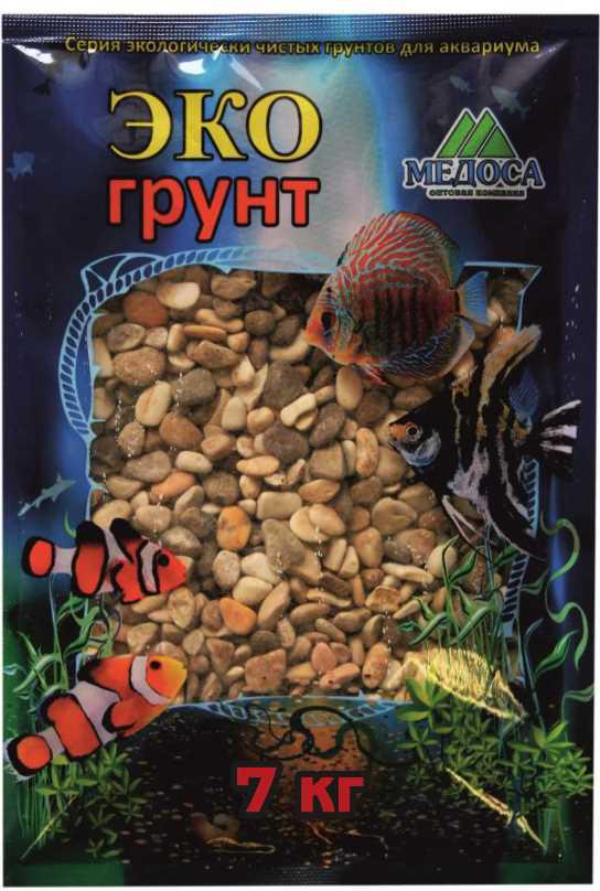 Грунт для аквариума ЭКОгрунт Каспий, галька, 5-10 см, 7 кг галька морская для аквариума prime 2 7 кг