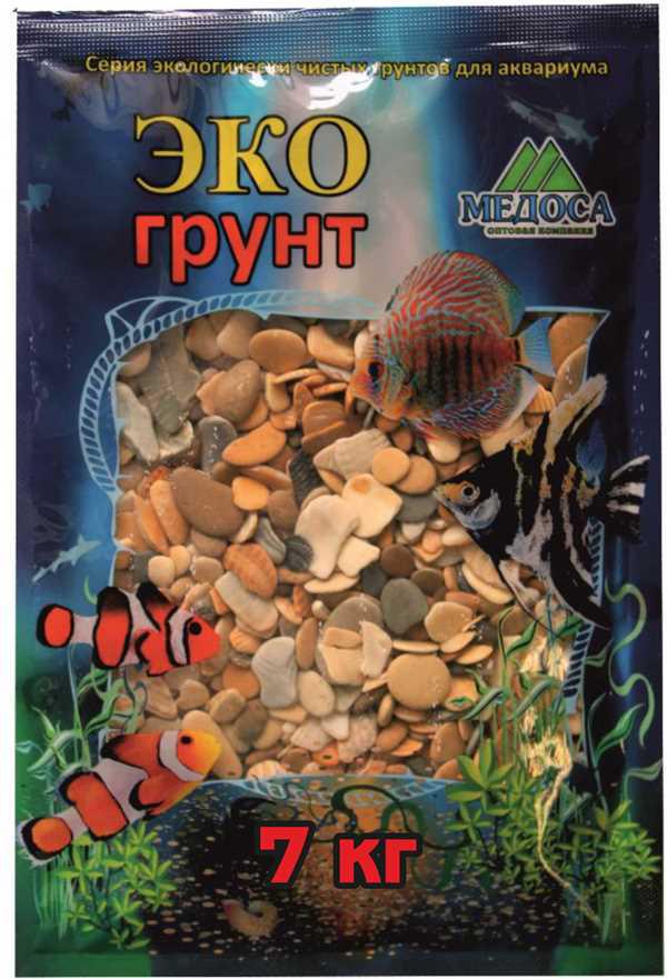 """Грунт для аквариума ЭКОгрунт """"Каспий"""", галька, 8-15 см, 7 кг"""