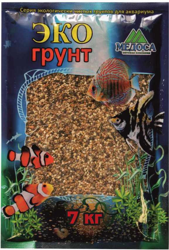 Грунт для аквариума ЭКОгрунт, галька реликтовая, 1-3 см, 7 кг галька морская для аквариума prime 2 7 кг