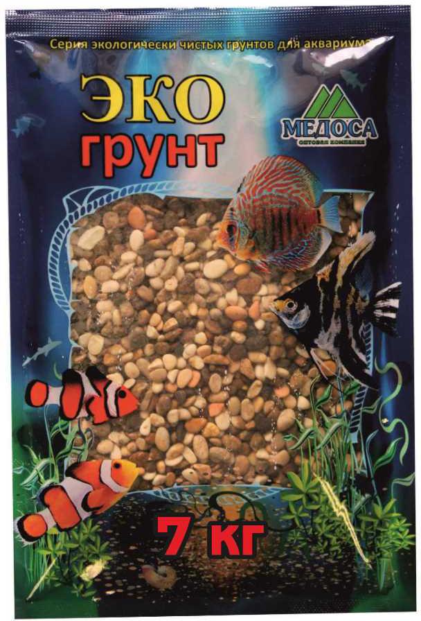 Грунт для аквариума ЭКОгрунт, галька реликтовая, 4-8 см, 7 кг галька морская для аквариума prime 2 7 кг