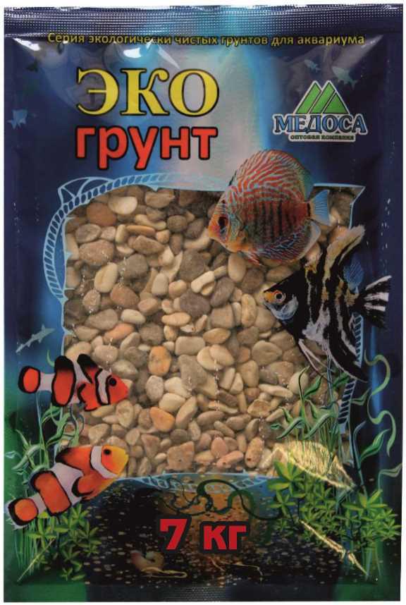 Грунт для аквариума ЭКОгрунт, галька реликтовая, 6-10 см, 7 кг галька морская для аквариума prime 2 7 кг