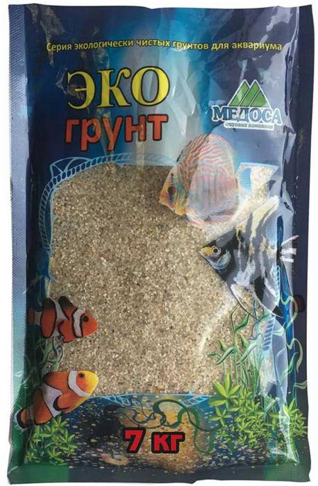 """Грунт для аквариума ЭКОгрунт """"Куба-1"""", кварцевый, окатанный 0,8-1,4 см, 7 кг"""