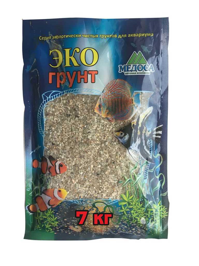 Грунт для аквариума ЭКОгрунт Куба-2, кварцевый, окатанный 1-2 см, 7 кг галька морская для аквариума prime 2 7 кг