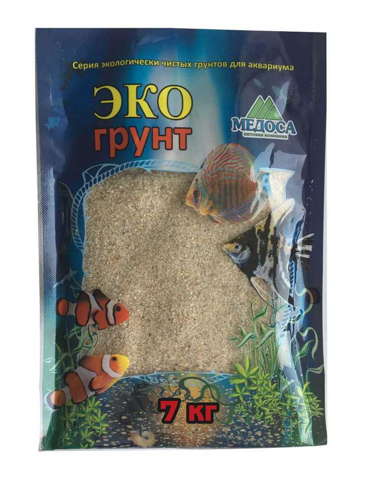 """Грунт для аквариума ЭКОгрунт """"Лунный"""", кварцевый, окатанный 0,5-1 см, 7 кг"""