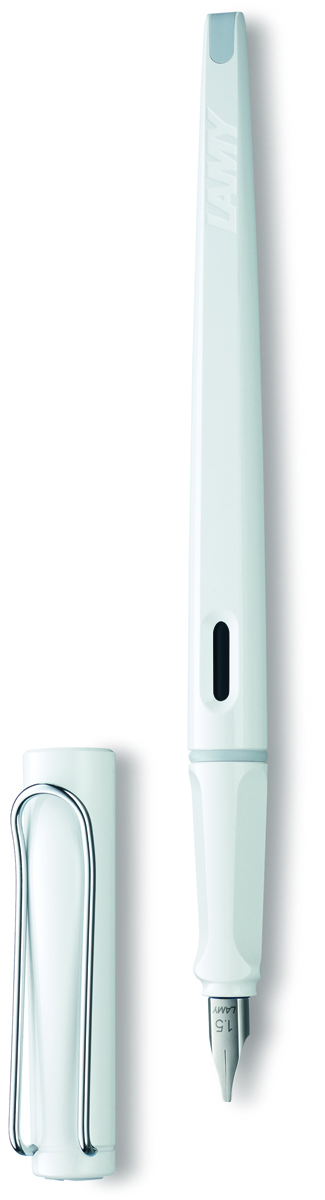 Lamy Ручка перьевая Joy синяя цвет корпуса белый толщина линии 1,5 мм -  Ручки