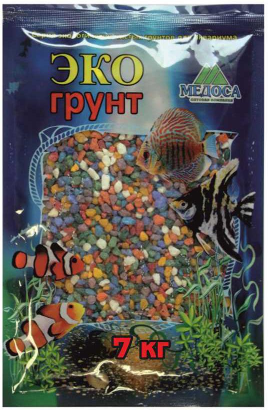 Грунт для аквариума ЭКОгрунт, мраморная крошка, блестящая, цвет: микс, 2-5 см, 7 кг штатив vanguard alta pro 263 agh
