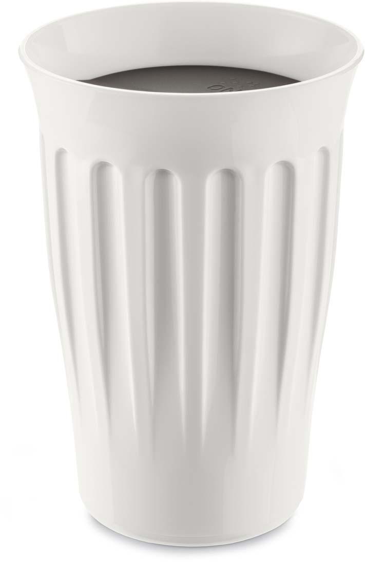 Термокружка Koziol Click, цвет: белый, черный, 350 мл