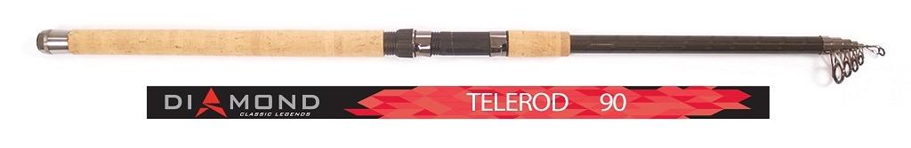 Удилище поплавочное Salmo Diamond TELEROD, телескопическое, с кольцами, 90 г, 3,3 м