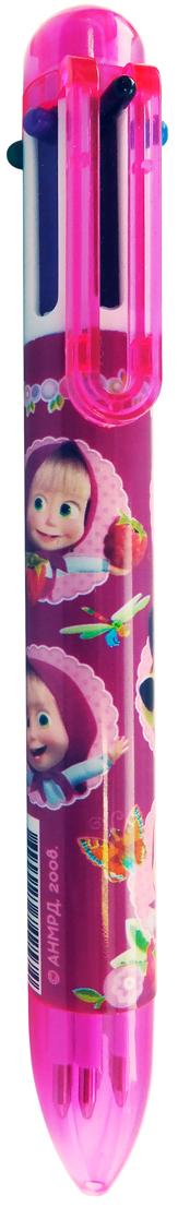 Маша и Медведь Ручка шариковая 6 цветов schwan stabilo шариковой ручкой писать музыку 308fbl5 пять загружены красный зеленый и сине фиолетовый