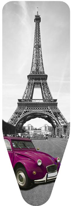 """Чехол для гладильной доски Colombo New Scal """"Paris"""", цвет: сиренево-серый, 140 х 55 см"""