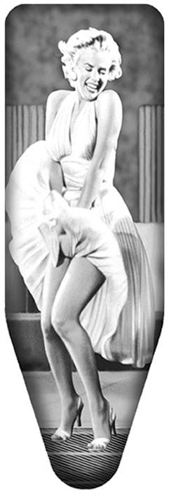 "Чехол для гладильной доски Colombo New Scal ""Mаrylin Monroe"", цвет: бело-серый, 140 х 55 см"