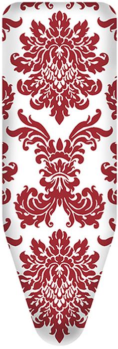 """Чехол для гладильной доски Colombo New Scal """"Persia Red"""", цвет: красный, белый, 124 х 46 см"""