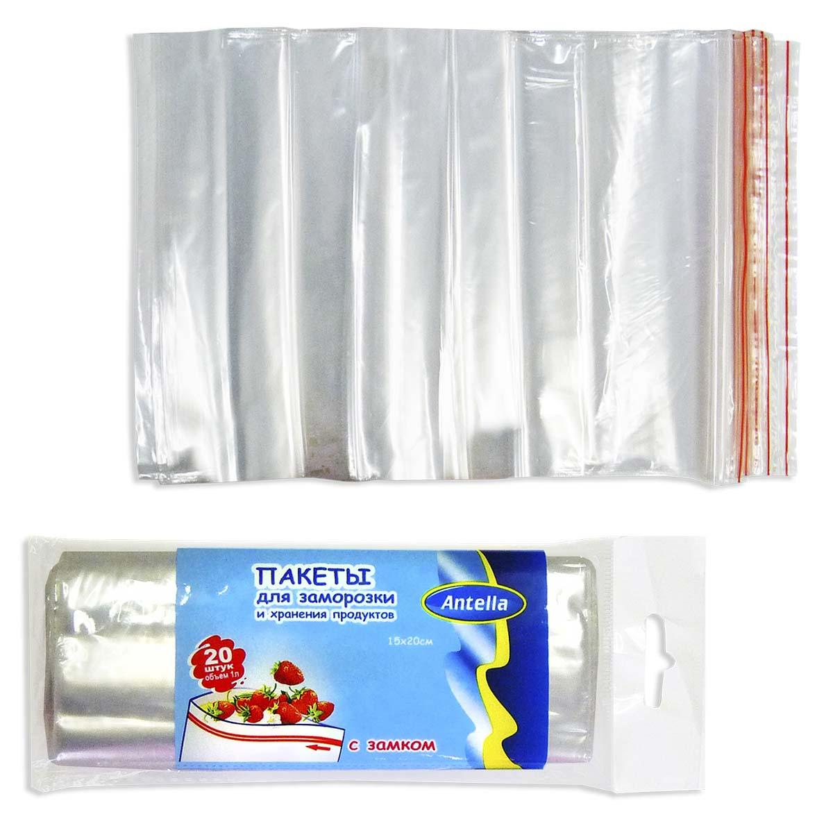 Пакеты для заморозки Antella предназначены для замораживания и хранения продуктов питания.  Пакеты имеют надежный замок, благодаря которому упакованные продукты защищены от попадания посторонних запахов. Просты и удобны в применении.