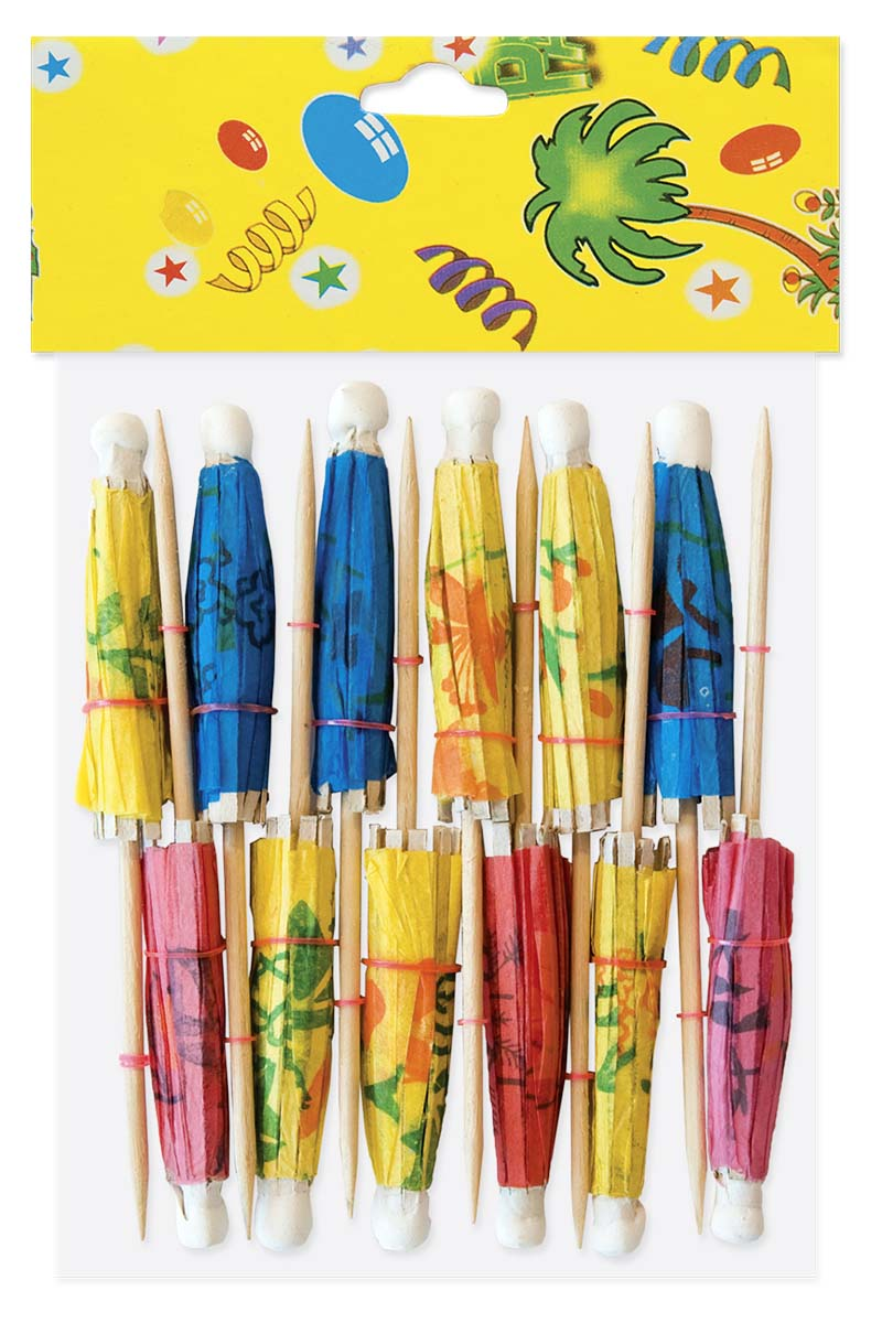 Деревянные шпажки зонтики Antella предназначены для подачи овощного, фруктового, сладкого канапе, бутербродов, а также в качестве украшения для сервировки стола.