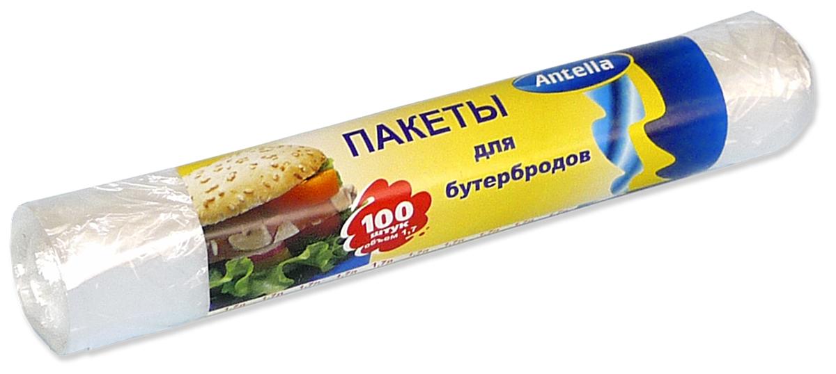 Пакеты для бутербродов Antella, 17 х 28 см, 1,7 л, 100 шт защитные пластиковые пакеты plastic liners 100 шт