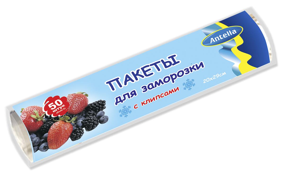 Пакеты для заморозки Antella предназначены для замораживания и хранения продуктов питания. Использование клипс позволяет сохранить первоначальную свежесть продуктов. Удобны в применении.