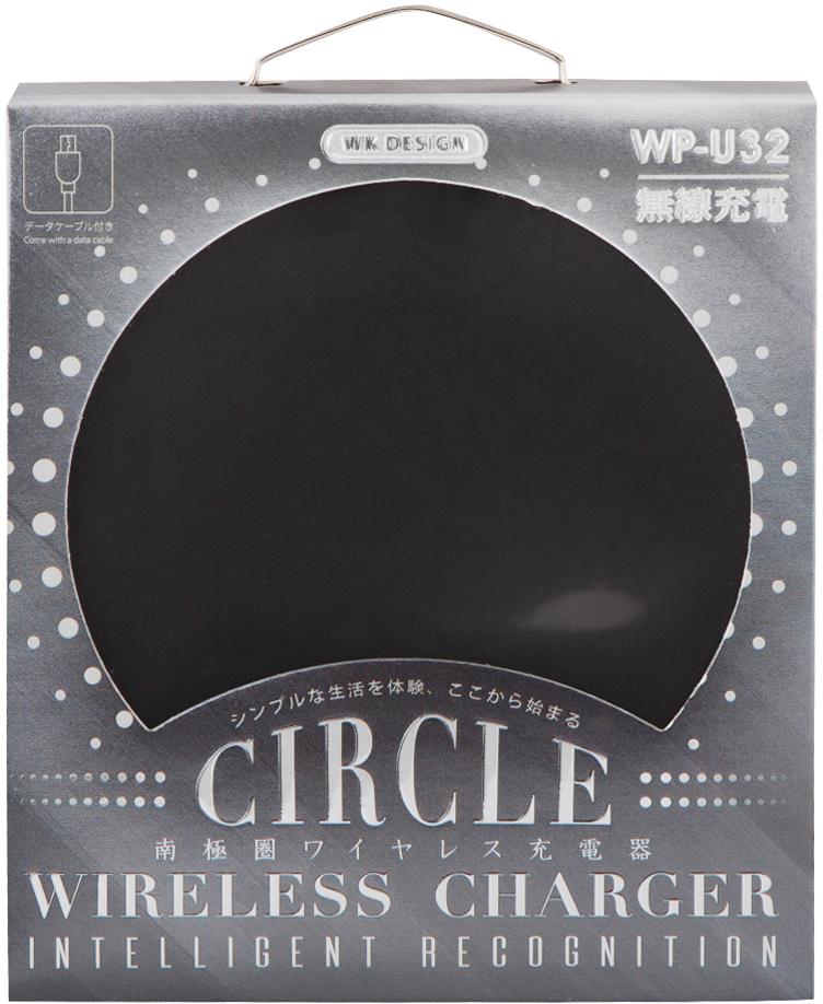 WK Circle Wireless Charger WP-U32, Black беспроводное зарядное устройство прохладный coolpad qualcomm qc2 0 3 0 быстрого зарядное устройство зарядки голова 5s просо музыка как вспышка заряд заглушка max2