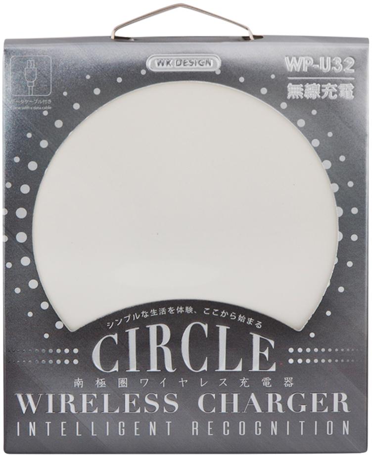 WK Circle Wireless Charger WP-U32, White беспроводное зарядное устройство