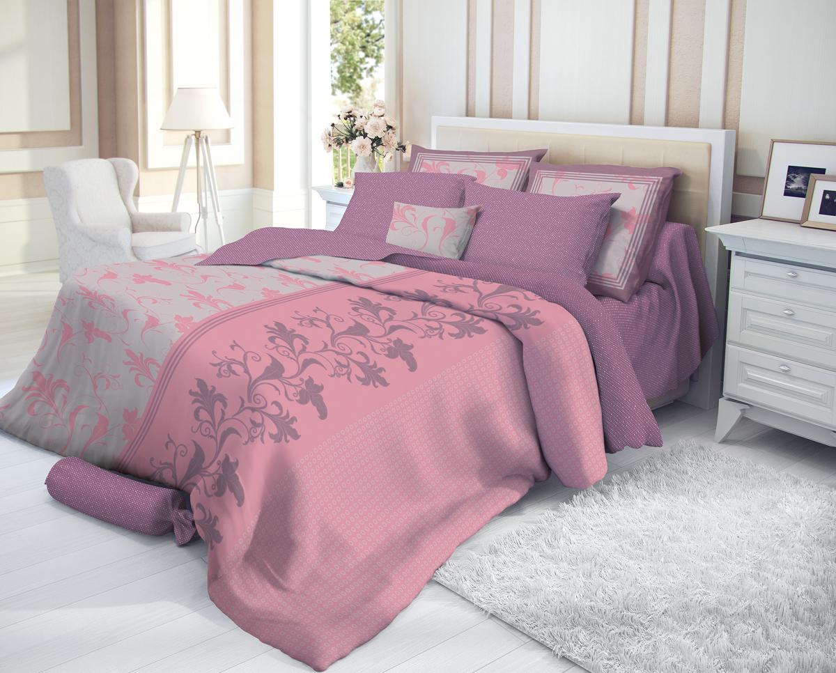 """Комплект белья Verossa """"Taurit"""", 1,5-спальный, наволочки 70х70, цвет: фуксия"""