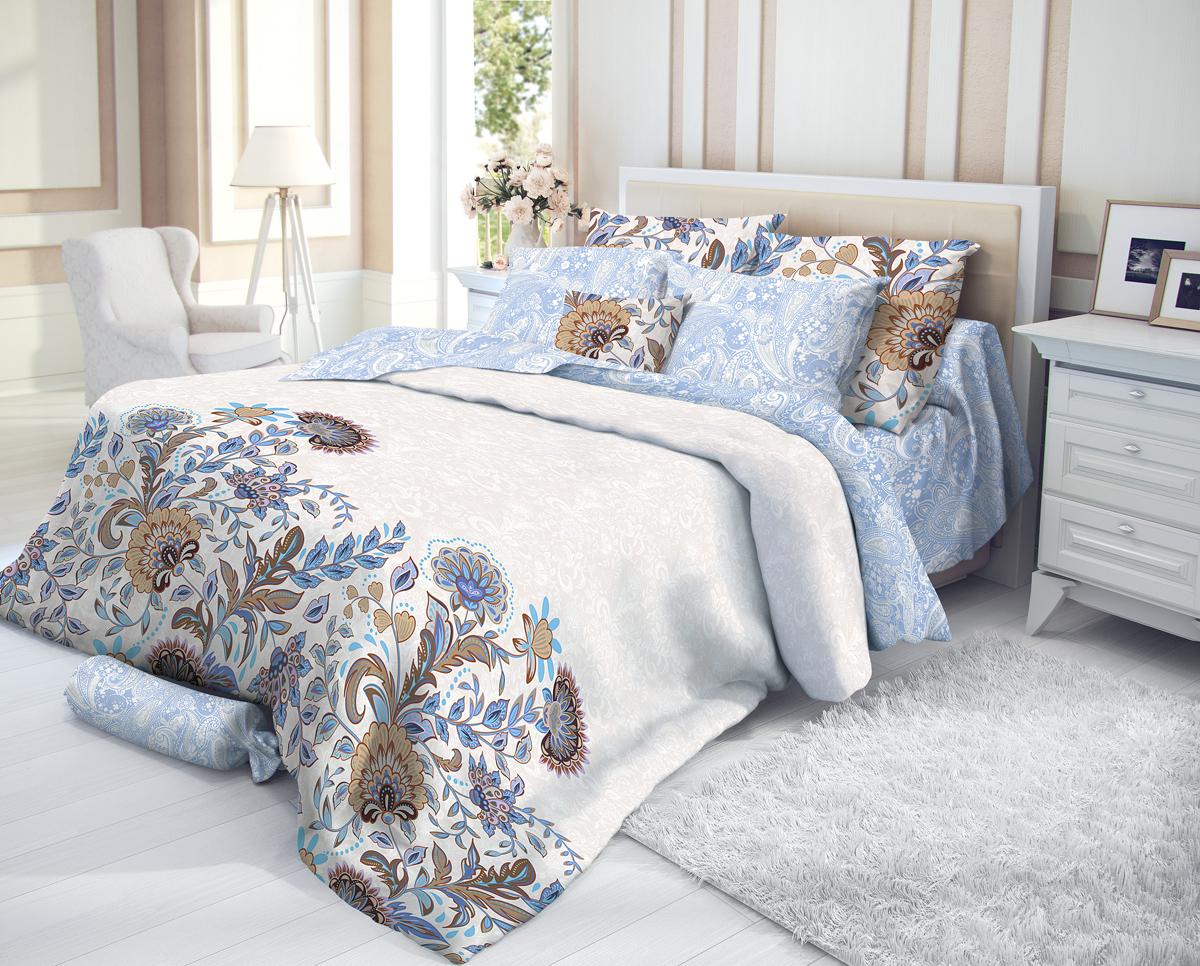 """Комплект белья Verossa """"Ivy"""", 2-спальный, наволочки 50х70, цвет: белый"""