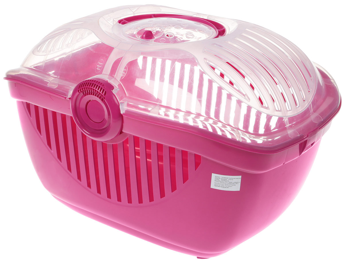 Переноска для животных Moderna Top Runner, цвет: ярко-розовый, 48 x 36 x 32 см acne studios топ jackie