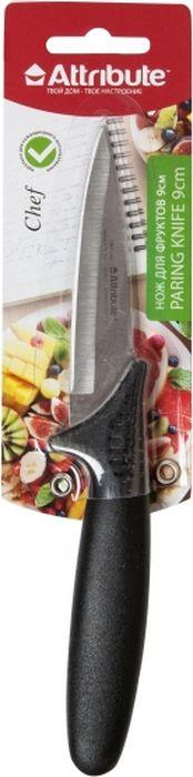 """Нож для фруктов Attribute Knife """"Chef"""" прекрасно справится с нарезкой и чисткой любых фруктов. Лезвие ножа выполнено из нержавеющей стали, а ручка - из пластика."""