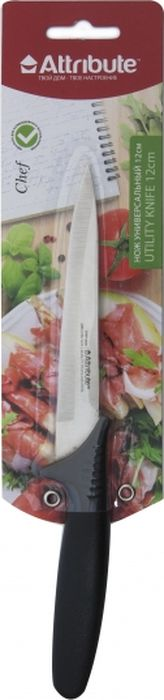 Нож универсальный Attribute Knife Chef, длина лезвия 12 см 5 chef home kitchen ceramic knife with blade guard protector black